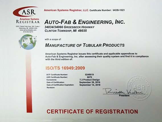 Quality Control   Auto-Fab & Engineering, Inc.